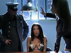 Top heavy young lady get interrogation.