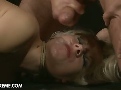 Luscious stunning slaves get her slit ripped brutal