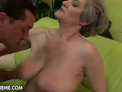 Aliz, filthy granny having wild extremely huge shaft in experienced vagina