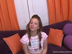 18 years old vixen bambi blake spreads her legs for a prick