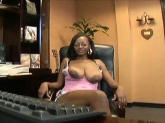 Filthy ebony office bitch