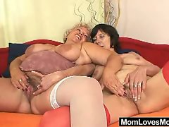 Alluring momma delight each others craving twat