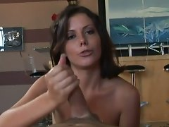 Sexual penny flame gives an amazing handjob!