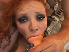 Filthy redhead loves toys in her narrow holes