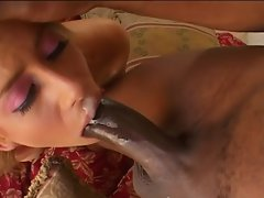 Blondie mother kylie worthy deepthroats xxl ebony cock