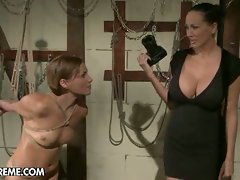 Mistress toys with her slave