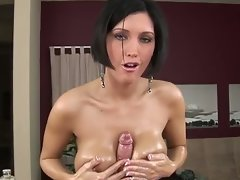 Dylan ryder gives a gorgeous tug job