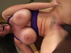 Buxom hussy daphne rosen interracial sex!