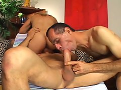 Explicit bisexual threeway fun
