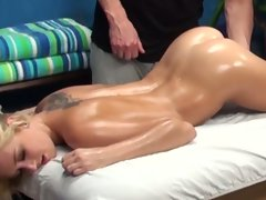Roxxi silver gets oiled, massaged and banged