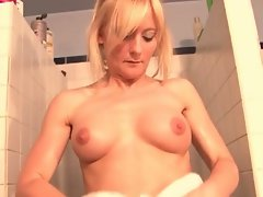 French blonde's softcore porn