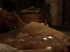 Attractive young woman loves to get her twat massaged