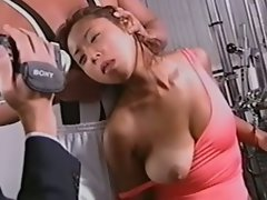 Seductive japanese cutie blindfolded and fingered