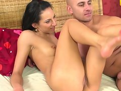 Leonelle's narrow pussy grinded