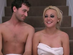 James deen and light-haired slutty girl dirty