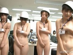 Asian bombshells strip bare for sex course