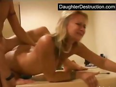 Latina daughter shagged brutal