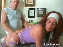 Experienced redhead whore receives that big brutal part2