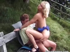 Outdoor sex party with some fabulous part5