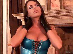 Blue Latex Dominatrix 1 by bizarrevid part1
