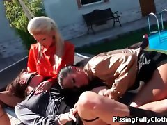 Three attractive butch vixens finger shagging part4