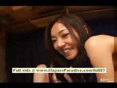 Risa and Sarasa attractive Chinese ladies go shaft riding