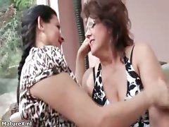 Chesty dark haired attractive mature butch females part5