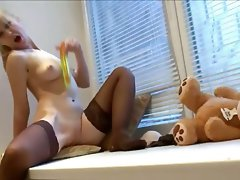 obscenely attractive lingerie and huge toy