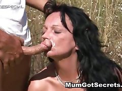 Sensual Mummy gets shagged rough outdoor part6