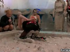 Mud fond Euro slutty chicks digging part3