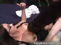 Buxom dark haired nympho gets banged deep part3