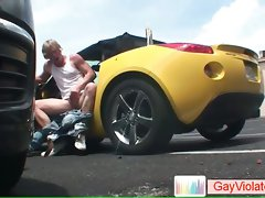 Blondie buddy getting poopshute fucked in vehicle part5