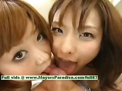 Nao Ayukawa and Rio Hanasaki lewd lady randy Chinese schoolgirls fuck after school
