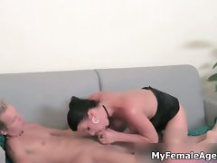 Filthy dark haired wench porn agent is riding part6