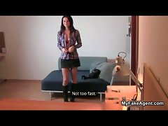 Luscious dark haired lassie getting alluring showing part3