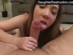 Stunning teenie daughter banged rough