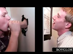 Straight chap tricked into gay BJ on gloryhole