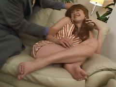 Sleeping seductive japanese tart bum fucked