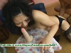 Megumi Haruka saucy teen Chinese lass rides a rubber toy
