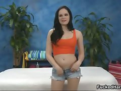 Luscious dark haired young woman gets sensual stripping part4