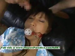 Akari Satsuki wild Chinese chick is tied and gets a facial