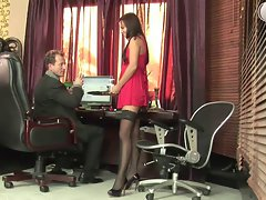 Seductive russian secretary in fist fuck activity at office