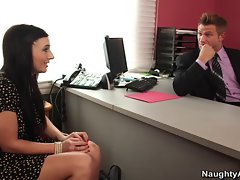 Ashli Orion bent over bosses desk and banging for a raise