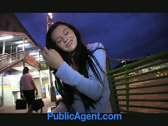 PublicAgent Timea looks fabulous in underwear and licking my co
