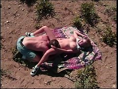 Attractive blondie bitch with short hair gets cunt licked & screwed in lewd desert
