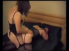 Strap on fun with friends dirty wife