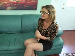Sheena Shaw is a lewd blond boss who bangs her assistant