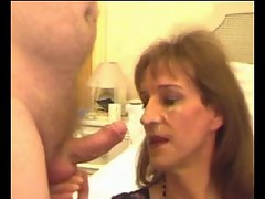 Attractive mature CD Gets A Facial