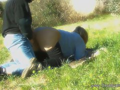 Doggy Banged On The Grass