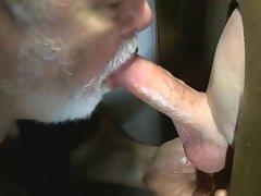 Beard dad strokes shaft